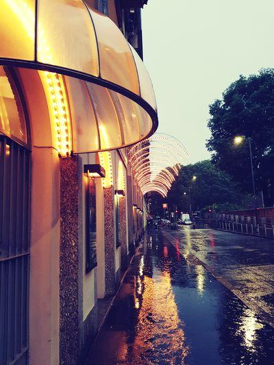 Reflection Water Reflections Lights Piccolo Teatro Theater City Lights Lights And Reflection Spring Rain Water Illuminated Sky Architecture Rainy Season Rainfall Drop Wet Rain