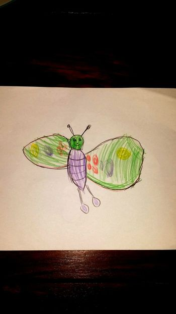 Butterfly painted by emilia 4 years old