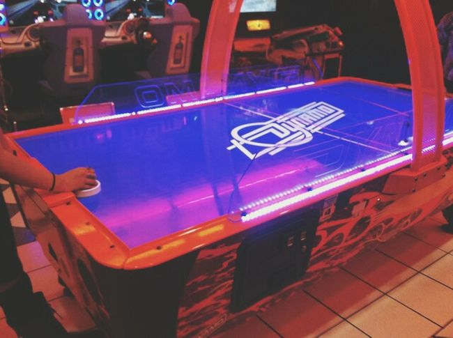 Movies Arcade Games Air Hockey Chilling