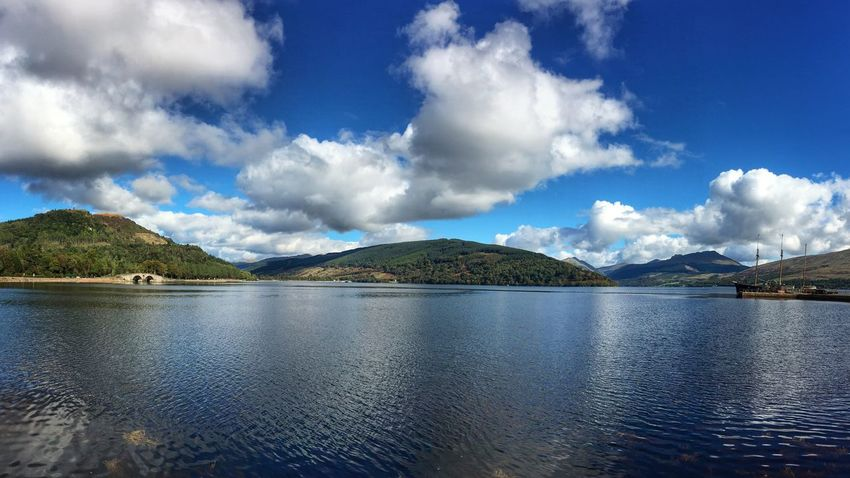 In Inverary this morning IPhoneography Snapseed Argyll Clouds And Sky Landscape Photography Panorama