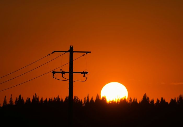 """""""Pure Energy"""" Sun Sunset Sunset_collection Sunset Silhouettes Silhouette Trees TreePorn Skyporn Sky Power Lines"""