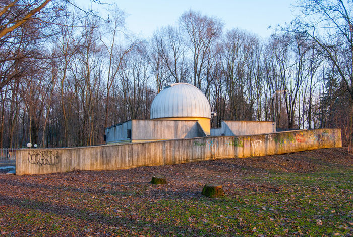 Astronomical Observatory Architecture Astronomy Autumn Bare Tree Building Exterior Built Structure Day Dome Field Grass Growth History Land Nature No People Outdoors Plant Sky Sunlight Travel Destinations Tree