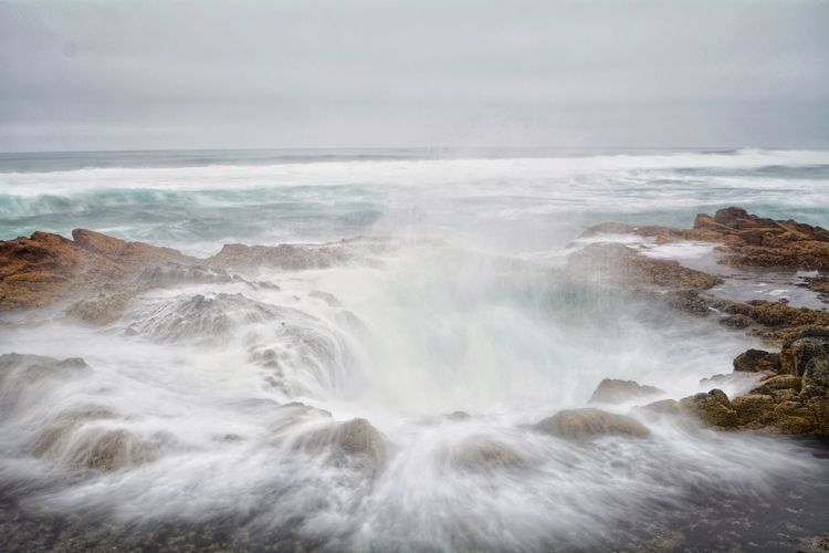 Thor's well Long Exposure Oregon Cape Perpetua Water Beauty In Nature Scenics - Nature Motion Sea Land Wave Rock Nature No People Outdoors Power In Nature