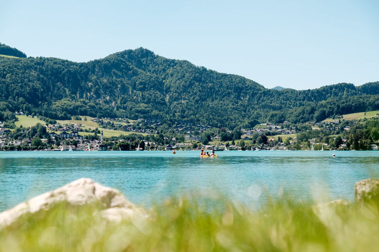 Austria Grass Hills Holiday Salzkammergut Summertime Swimming Beachday Beauty In Nature Carefree Childhood Crisp Day Depth Of Field Lake Landscape Lush Mountain Nature Outdoors Scenics Sky Summer Water Wolfgangsee