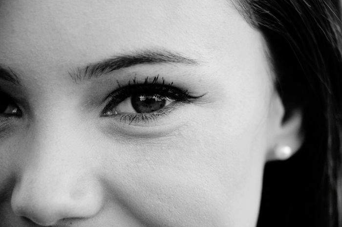 Beauty Beleza Schönheit Belle Eye Olho Ojo Augen Girl Chica Menina Mädchen Fille Bw P&B Grayscale Face Gesicht Rostro Piel Skin Pele Model Olhar