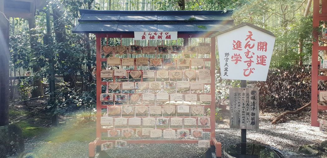 Japanese Wodden pray at Bamboo Shiren Pray Japanese  Japanese Culture Japanese Style Cultures Shiren Communication Text Architecture Close-up Building Exterior Built Structure Written Handwriting