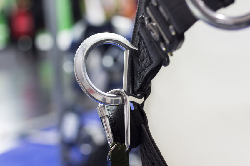 Black Color Carabiners Close-up Connection Day Equipment Focus On Foreground Handle Indoors  Industry Land Vehicle Metal Mode Of Transportation No People Protection Security Selective Focus Technology Transportation