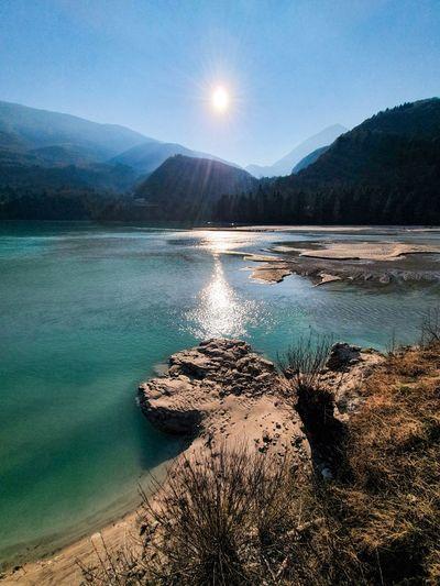 Winter view of an alpine lake