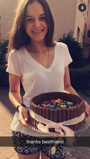 happy birthday bestfriend 💘🎉 hope you enjoyed the cake🍰😏 Finally14