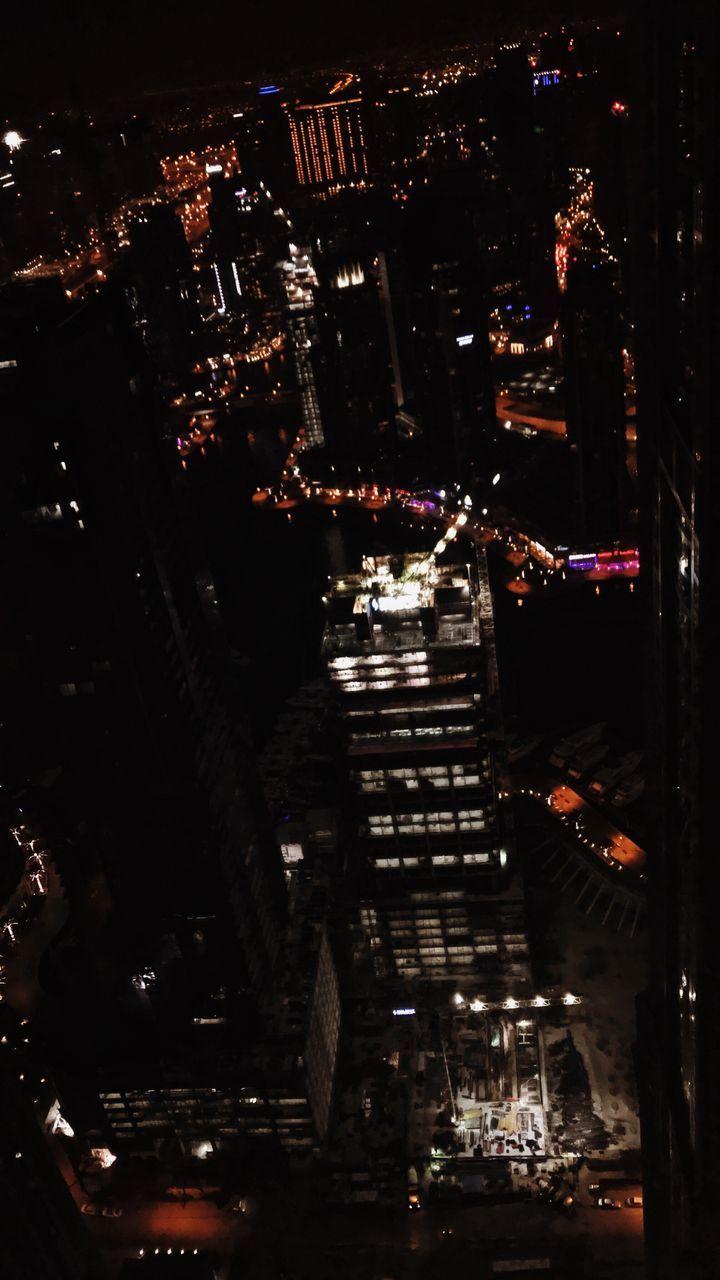 city, illuminated, cityscape, night, modern, architecture, outdoors, no people