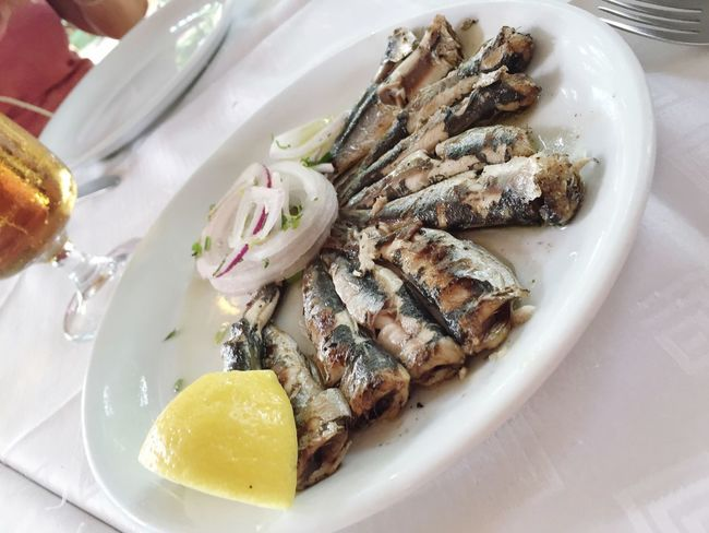Plate Food Sardine Food And Drink Seafood Serving Size No People Table Seafoods Sardines Fish