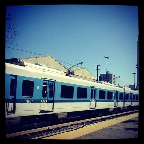 Tren Baciudad Baires VivirEnBuenosAires Cielo Sky Azul Colores Colors