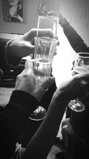 Cheers! Adults Only Indoors  Night People Event Nightlife Real People Human Hand Traveling Home For The Holidays Happy New Year Newyearseve 2017 New Year Champagne Toast Bubbly 2017 🍾🎇🎉❤ Glass Objects  Close-up Iloveyou Familyfirst Finding New Frontiers TheWeekOnEyeEM Wine Moments EyeEmNewHere