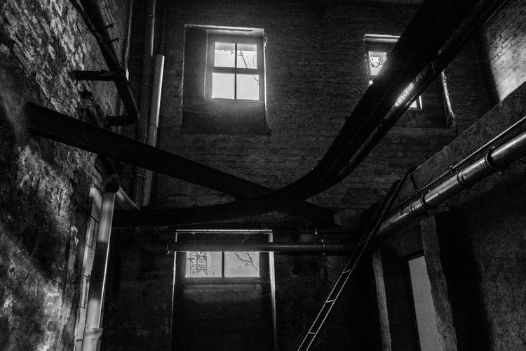 Architecture Blackandwhite Photography Fabrik Gohst Langzeitbelichtung Leipzig Lost Places No People Schwarz & Weiß