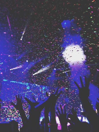 The neon lights tourrrr Demi Lovato Concert Happy