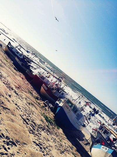 Beach Sky Sand Day Outdoors Fishing Boats Fishing Port Poland Jarosławiec View