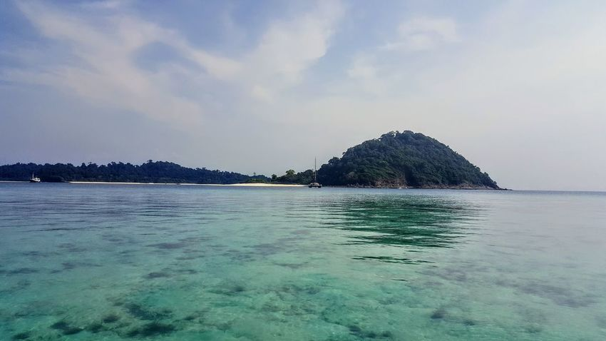 The water is so clear in the Myeik Archipelago! 😍 Our Intrepid Travel catamaran is in the distance Myanmar Burma Myeik Myanmar Myeik Mergui Mergui Archipelago Andaman Sea Sea Beach Water Nature Beauty In Nature Scenics Outdoors Tranquility Cloud - Sky Blue UnderSea Summer No People Sky The Week On Eyem Today's Hot Look EyeEm Best Shots Samsumggalaxy6edgeplus Neighborhood Map Live For The Story Been There. Done That.