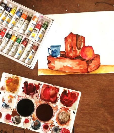 Desks From Above Check This Out EyeEm Best Shots Colours Watercolor Painting