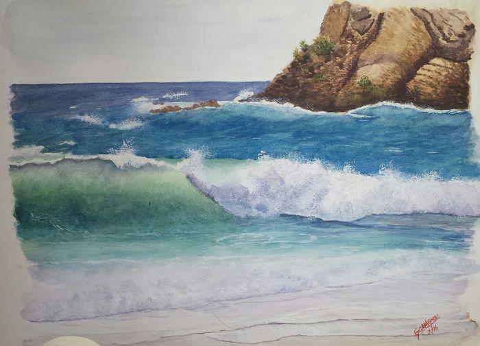 Sea Water Sea Watercolour Wave