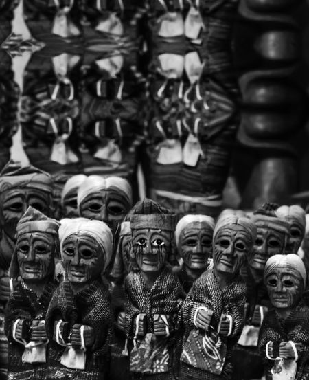 Figurines for sale at market