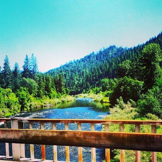 Klamath river Happy Camp bridge. Klamathriver Happycamp CA