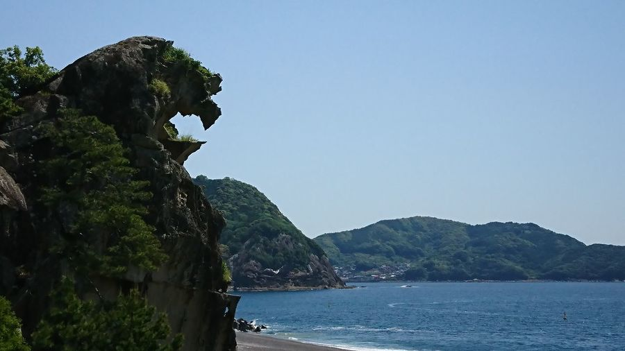 shishi-iwa The Lion Rock Kumano Black Panther Wakanda Water Mountain Beach Clear Sky Blue Sky Mountain Range