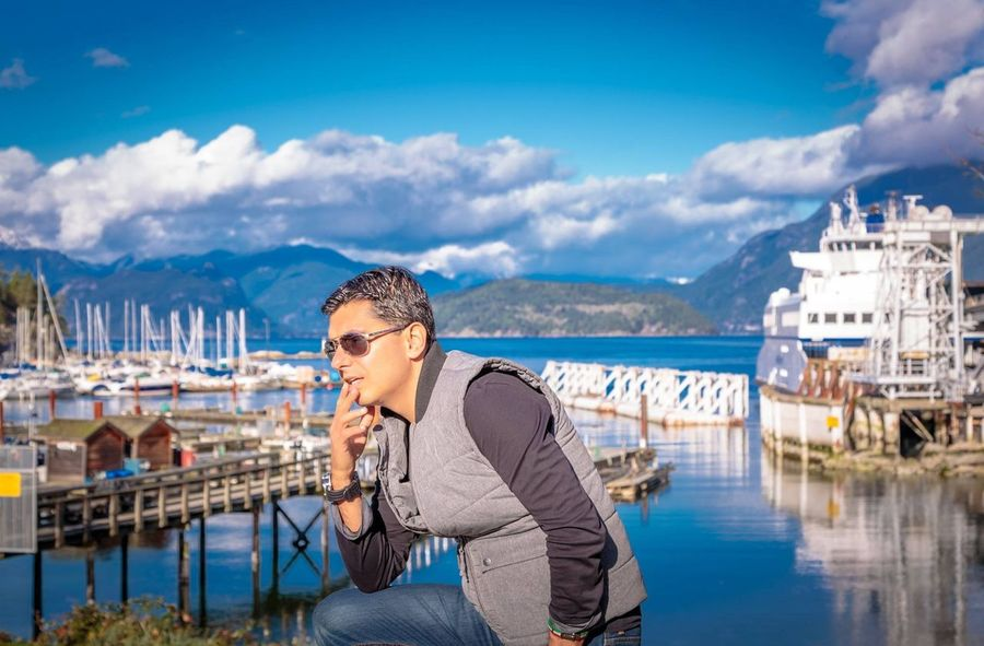 That's Me Horseshoe Bay Vancouver BC BC, Canada Just Thinking Thinking About A Beautiful Day Sunlight ☀ Clouds And Sky