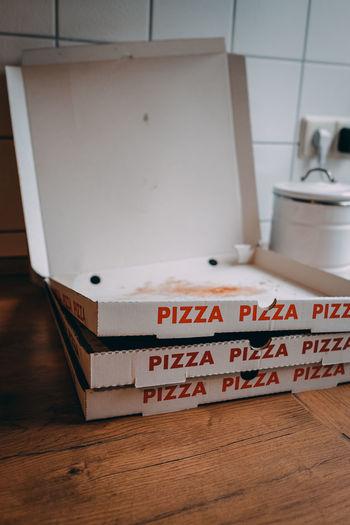 Empty pizza