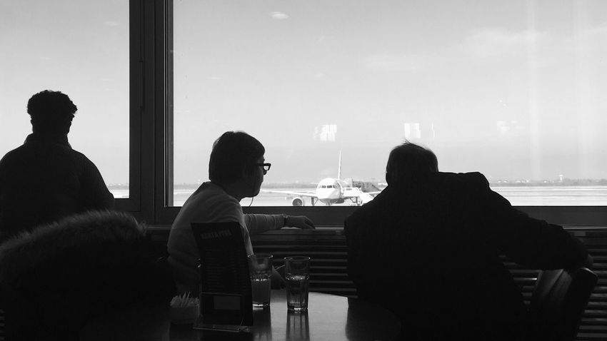 People watching arrivals and departures at Pleso international airport in Zagreb, Croatia, 2017. Pleso Zagreb Croatia Airport Aircraft Airline Airliner Plane Watching Plane Spotting Silhouette Runaway Documentary