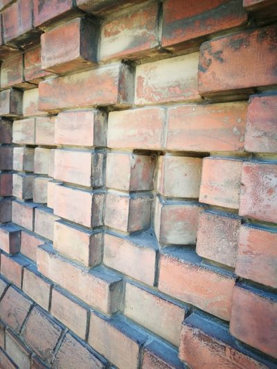 Full Frame Backgrounds Brick Wall Built Structure Multi Colored Day Pattern Architecture Outdoors No People Textured  Close-up Building Exterior