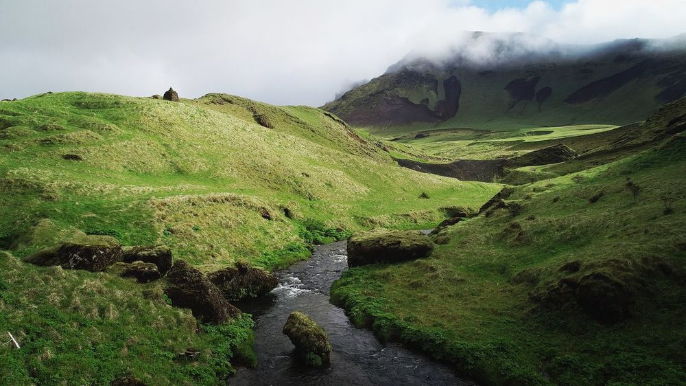 ValleyVik Valley Vik Iceland Tranquil Scene Environment Outdoors Mountain The Great Outdoors - 2018 EyeEm Awards
