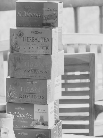 Tea Time @ Mauritius Island . No People Day Close-up Bois Cheri Teaplantation Teaplants Tea Tropical Climate Caramel Ginger Lemongrass Tea Rooibos Tea Chair Blackandwhite Black And White Photography EyeEmBlackAndWhite Souillac Trou D'eau Douce Flic En Flac Mauritiusexplored Mauritius