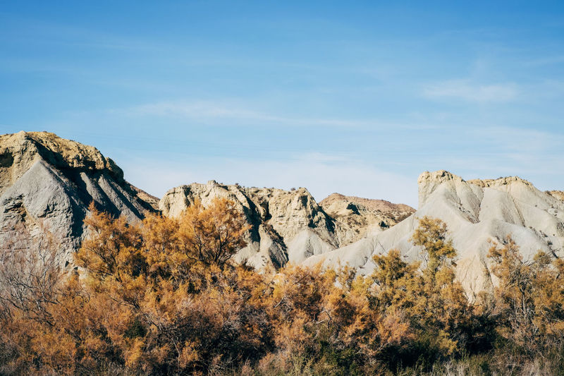 Rock Formations On Landscape Against Sky