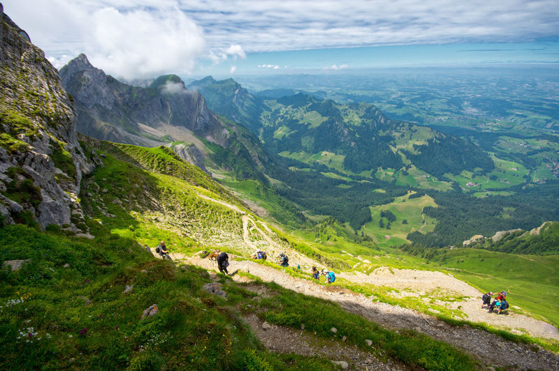 Mt. Pilatus hiking Hiking Mt. Pilatus Nature Road Tourist Walk Air Alpes Beauty In Nature Cloud - Sky Field Grass Green Color Healthy Lifestyle Landscape Mountain Nature Outdoors People Scenics Sky Tourism Tranquil Scene Tranquility Way