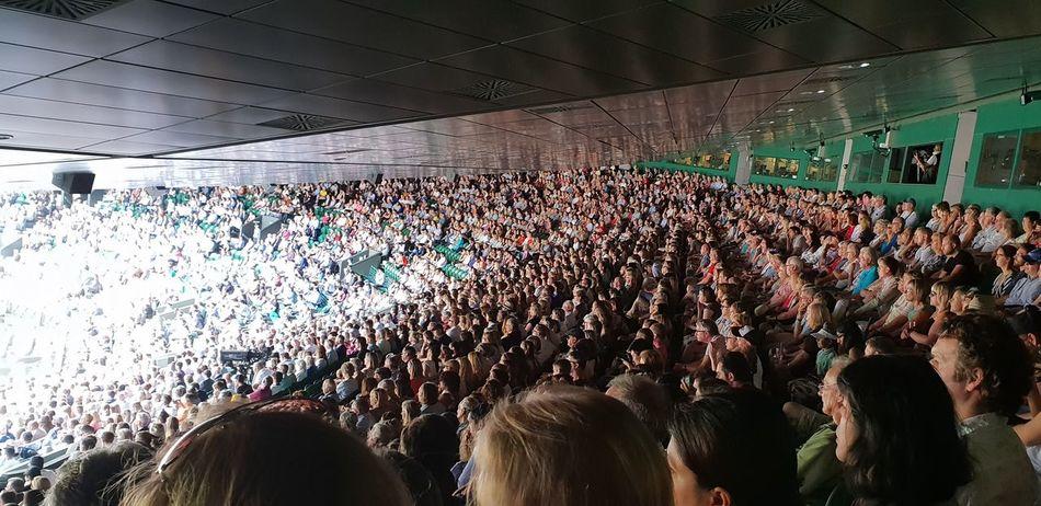 Tennis 🎾 Wimbledon Fan - Enthusiast Crowd Popular Music Concert Stadium Audience City Competition Match - Sport Confetti Excitement Capture Tomorrow