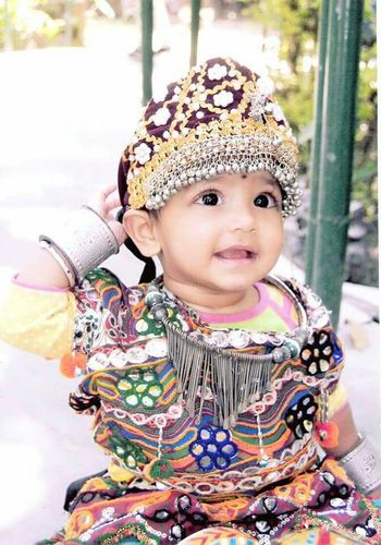 She cute indian baby girl Pranamya 1yr.old She is in gujrati cultural dress in this photo.my sweet baby girl. First Eyeem Photo