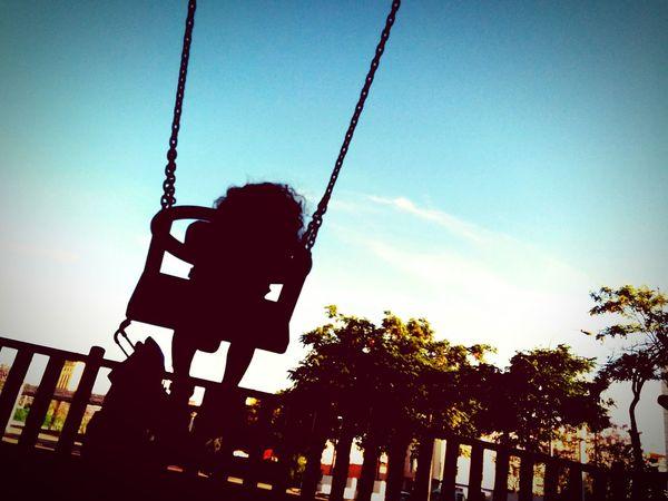 Having Fun Swinging Park My Daughter ♥ Live, Love, Laugh