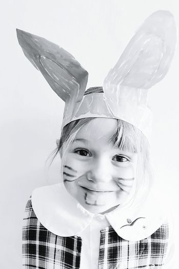 Little Bunny Blackandwhite Happiness Child Kids Being Kids Happy Easter EyeEm Face