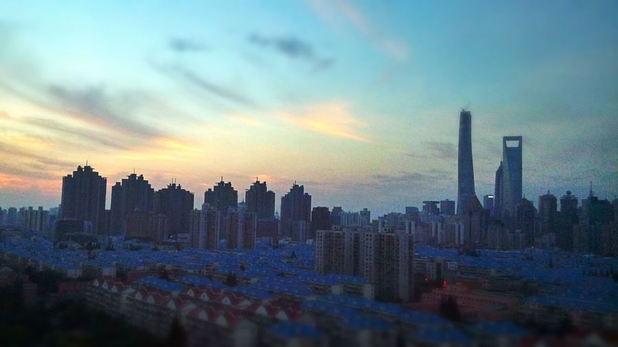 View from my workplace. Shanghai Cellphone Photography Skyline Cityscapes