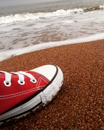 Sea Life Sand & Sea Redsands Redsandbeach Shoe RedShoe Red White Sea Beach Beach Time