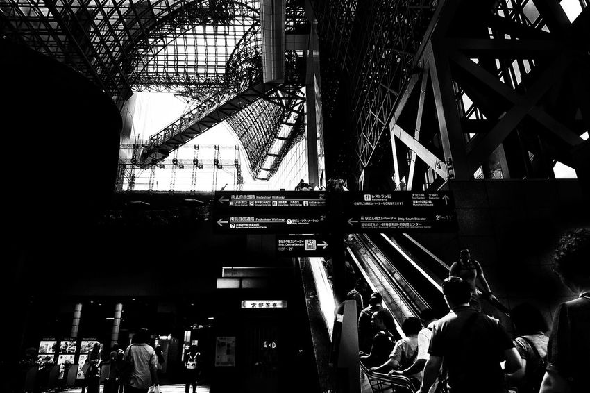 Feel The Journey Station EyeEm Best Shots Bnw Bnw_collection Monochrome Bnw_planet Kyotostation Kyoto Architecture