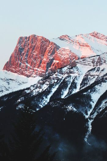 Red Mountain Top Rockies Mountain Explorealberta Imagesofcanada Canadianrockies Nationalgeographic Winter Wonderland Mountain Range Landscape Alberta Canada Mountain Snow Cold Temperature Water Winter Abstract Sky Close-up Landscape Geology Arid Landscape Rock Formation Natural Landmark Snowcapped Mountain Rocky Mountains Physical Geography