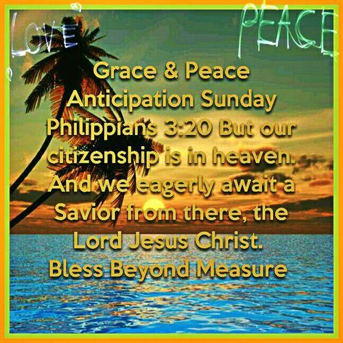 Grace & Peace Anticipation Sunday