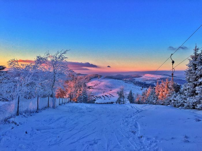 Eye4photography  EyeEm Best Shots EyeEm Nature Lover Winter Nature EyeEm Best Edits EyeEmBestPics Skiing Sunset Evening