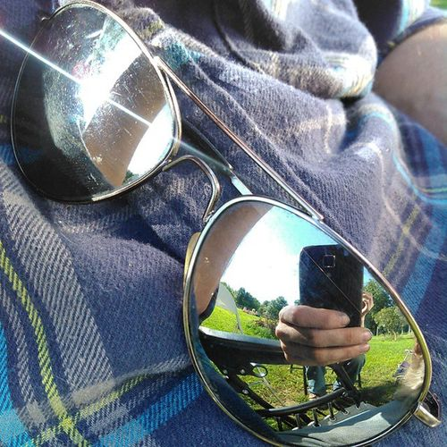 Glasses Reflection Sunny Summer Selfie Sunlight Family Backyard Sunglasses Evartmichigan Evartmi Northern Michigan Pure Michigan Michigan Thineownlife