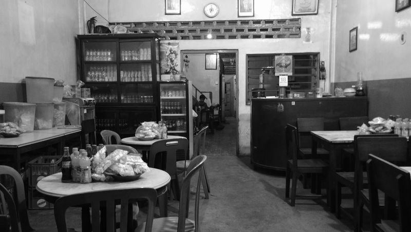 Chinese kopitiam style Table Chair Indoors  Huawei Mate 9 Huawei Leica Huaweimate9 Huaweiphotography Black And White Friday