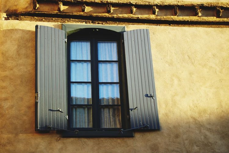 Window Architecture Built Structure Building Exterior House No People Day Outdoors Windows Window Box Shutter Shutters Low Angle View France Carcassone, France