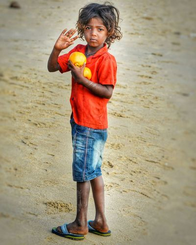 Children Only Child Childhood Sand Beach Casual Clothing Full Length One Girl Only One Person Looking At Camera Water Portrait Outdoors Standing Rubber Boot Sea People Leisure Activity Smiling Day Nikonphotography PortraitPhotography