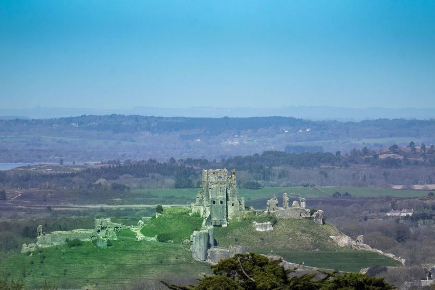 Corfe Castle, Dorset UK Castle Corfe Castle Dorset,England Archaeology Architecture Building Exterior Built Structure Castle Ruin Castle View  Castle Walls Day History No People The Past