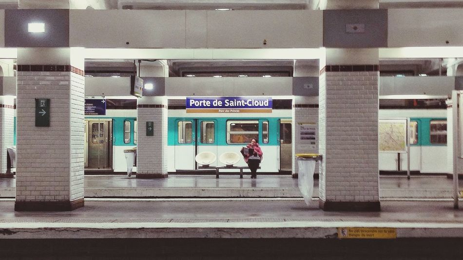 Waiting. Train Station Metro Station Paris Metro Paris Shot With A IPhone People Waiting For A Train Streetphotography Urban Public Transportation Alone Empty Train Station Empty Lonely Loneliness Up Close Street Photography Embrace Urban Life Traveling Home For The Holidays Stories From The City